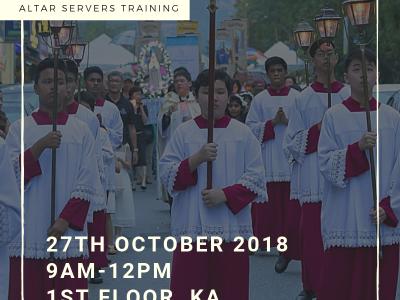 Altar Servers Training, 27 October 2018