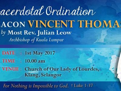 Sacerdotal Ordination of Vincent Thomas