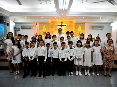 First Holy Communion At Kristus Aman