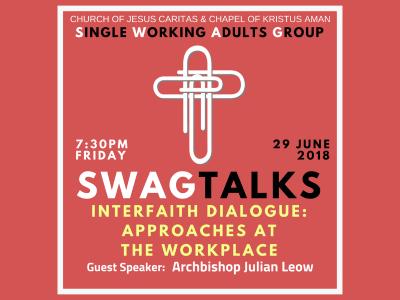 SWAGTALKS with Archbishop Julian - 29 June 2018 [RSVP Here]