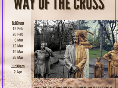 Way of the Cross followed by Reflexion - Fridays in Lent beginning 19 Feb 2021