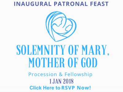 RSVP for KA Feast Day Fellowship 1st Jan 2018