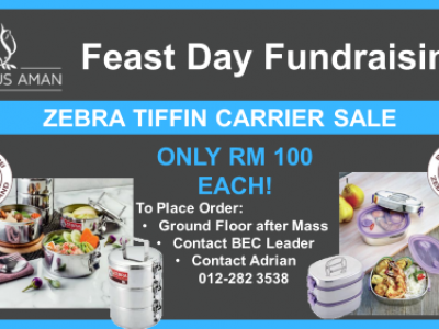 Feast Day Fundraising: Zebra Tiffin Carrier Sale