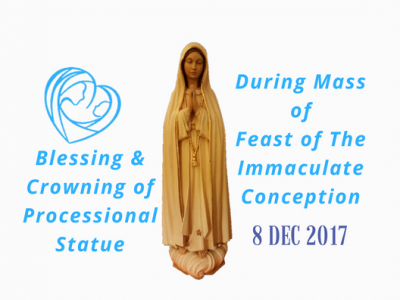 Blessing and Crowning of the Processional Statue on Feast of The Immaculate Conception