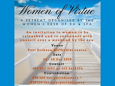 Women's Retreat 26-28 October 2018